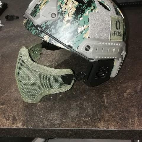 Objet 3d attache masque grille pour casque fast emerson - Grille indiciaire attache administration ...