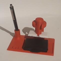 20180301_212551.jpg Télécharger fichier STL gratuit Base tampon+stylo • Modèle pour impression 3D, Xukyo