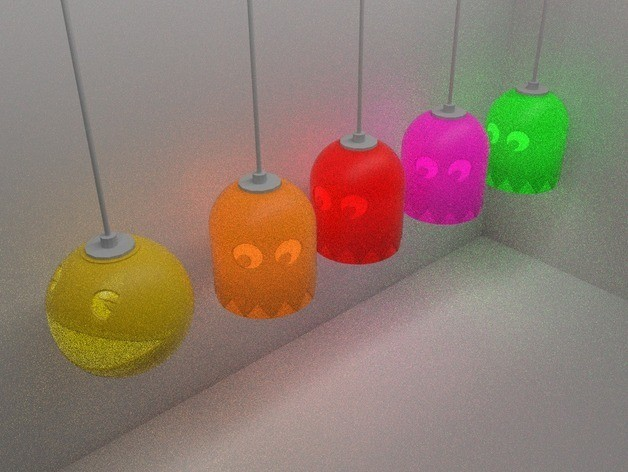 PacMan8_preview_featured.jpg Download free STL file PacMan Inspired Light Shade • 3D print object, stensethjeremy