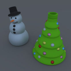 Free 3D print files Christmas Soap Dispenser, stensethjeremy