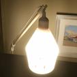 Free 3D printer model Desk Mount For Hanging Lamp w/ Shade, stensethjeremy
