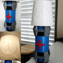 Download 3D printing templates Overwatch Health Pack Lamp, stensethjeremy