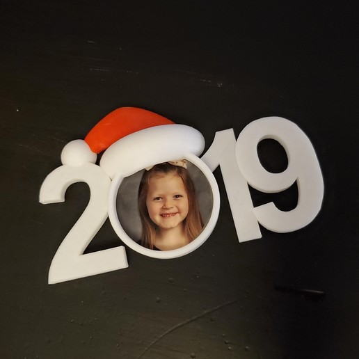 Download free 3D printing templates 2019 Christmas Picture Ornament, stensethjeremy