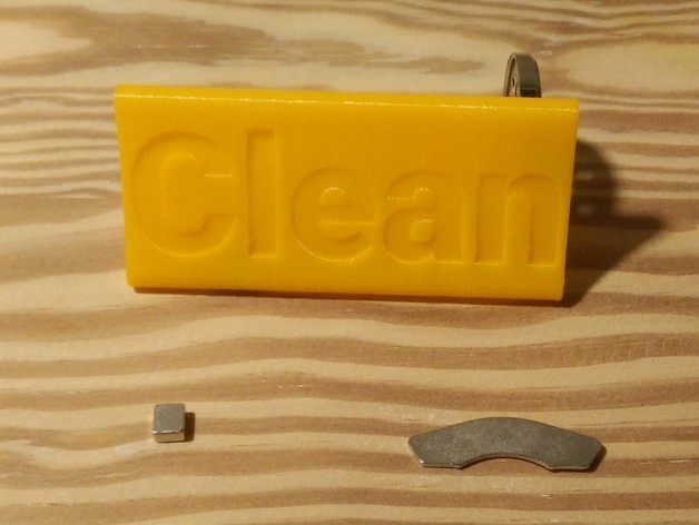 IMG_20151220_1214212_preview_featured.jpg Download free STL file Dishwasher Clean / Dirty Drop In Magnet • 3D print model, stensethjeremy