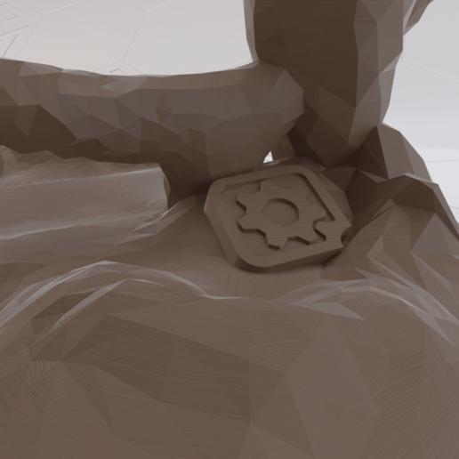 Broken Vault Symbol3.png Télécharger fichier STL gratuit Support de téléphone avec symbole de chambre forte brisée Borderlands • Objet imprimable en 3D, stensethjeremy