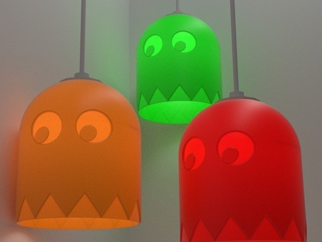 PacMan6_preview_featured.jpg Download free STL file PacMan Inspired Light Shade • 3D print object, stensethjeremy