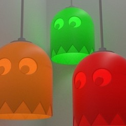 Free STL files PacMan Inspired Light Shade, stensethjeremy