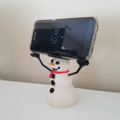 Download free 3D printer templates Snowman Phone Holder, stensethjeremy