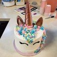 Download free 3D printing designs Unicorn Cake Topper Horn and Ears, stensethjeremy