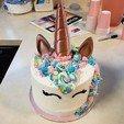 Télécharger modèle 3D gratuit Unicorn Cake Topper Horn et Oreilles, stensethjeremy