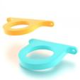 Free 3D printer files Ambient Light Mount for Monitor 100mm Vesa, stensethjeremy