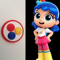 modelos 3d gratis True and The Rainbow Kingdom Pin / Badge, stensethjeremy