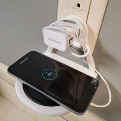 charge shelf 2.jpg Télécharger fichier STL gratuit Tablette de chargement sans fil • Objet pour impression 3D, stensethjeremy