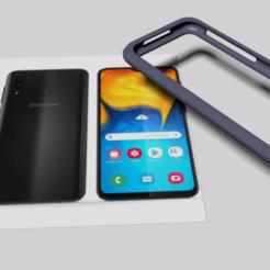 coque samsung A20.png Télécharger fichier STL Case Samsung A20 • Objet pour imprimante 3D, ybou