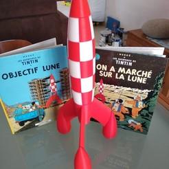 Free STL file Tintin Rocket (Tintin Rocket), montellese73