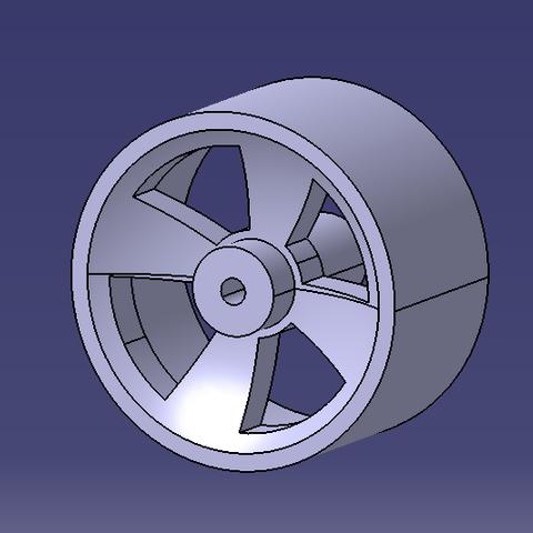 Télécharger modèle 3D gratuit Roue arrière course en cours, SimEtJo