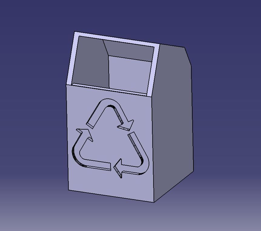 Mini poubelle de bureau ou trousse 5x5x7.PNG Télécharger fichier STL gratuit Mini poubelle de bureau • Modèle imprimable en 3D, SimEtJo