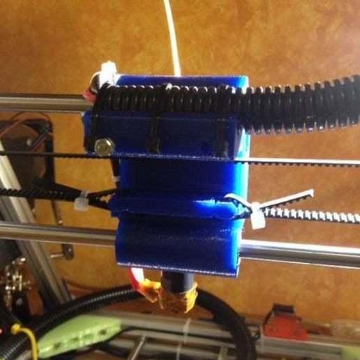foto_1.jpg Télécharger fichier STL gratuit X chariot pour imprimante OB1.4 / Câblé1 • Design pour impression 3D, volpiclaudio