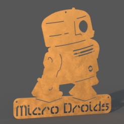 Micro_Droids_v10.png Download free STL file Micro Droid Sign BB-R2 • 3D print template, haroldharmon