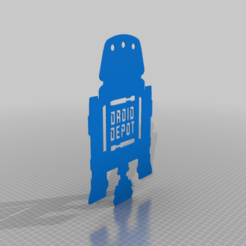 DD-R5.png Download free STL file Droid Depot Sign - R5 Version • Design to 3D print, haroldharmon