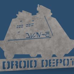 DD-MSE_v8.png Download free STL file Droid Depot Sign - MSE-6 • 3D printable design, haroldharmon