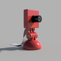 Arducam_Full_View_Render.png Download free STL file Arducam Camera Case & Stand • 3D printable object, haroldharmon