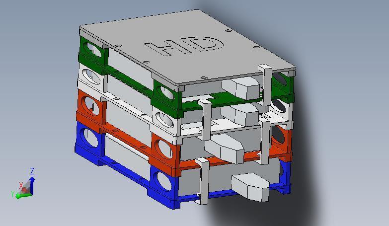 HDS 1.jpg Download STL file NEW - Hard Drive SKYSCRAPER • 3D printer template, salva65