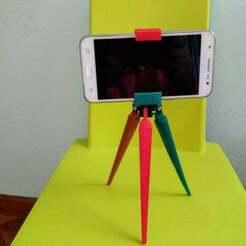 IMG_20181014_181305.jpg Télécharger fichier STL gratuit Trépied de téléphone 2 tailles • Objet à imprimer en 3D, calistoellisto