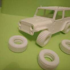 IMG_20180710_014126.jpg Download free STL file Flexible tires of 3 types for Orlandoo Hunter Jeep 1/35 scale • 3D printer design, calistoellisto