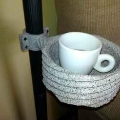 sujeta_bebida.jpg Download free STL file Floor lamp drink holder • 3D print template, calistoellisto