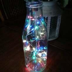 IMG_20181129_112650.jpg Télécharger fichier STL gratuit Adaptateur de bouteille en verre avec lumières de Noël • Plan à imprimer en 3D, calistoellisto