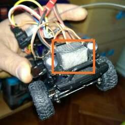 IMG_20190504_134125.jpg Download free STL file Orlandoo Hunter steering servo Emax 9251 adaptation • 3D printer model, calistoellisto