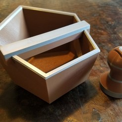 Free stl files Knock Box and Tamper , CWCDesigns