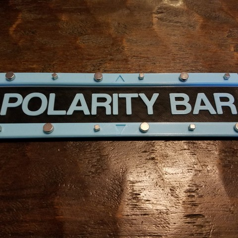 Free STL Magnetic Polarity Bar, CWCDesigns