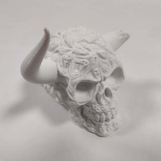 Download free STL file Skull with horns. • 3D printer template, cocineroasturiano