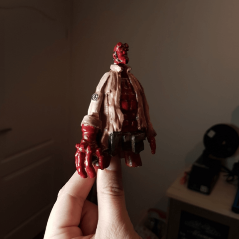 Free 3D printer file Hellboy sculpture, Wekster