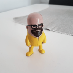modelo stl gratis Mini Walter White - Breaking Bad, Wekster