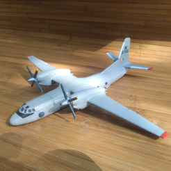 Download free 3D printer model Antonov An-32, AVIZO