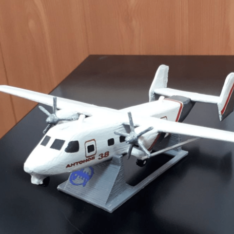 Free Antonov An-38 3D printer file, AVIZO