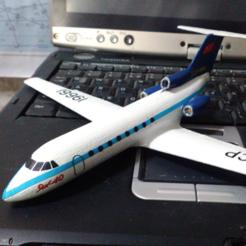 Impresiones 3D gratis Yakovlev Yak-40, AVIZO