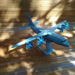 Download free STL Antonov An-70 (low poly), AVIZO