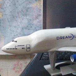 Download free 3D printer templates Boeing 747 Dreamlifter, AVIZO