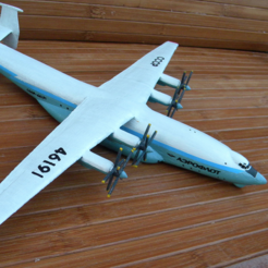 Free STL Antonov An-22, AVIZO