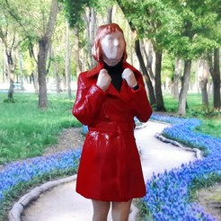 Download free 3D printer model Woman in red, AVIZO