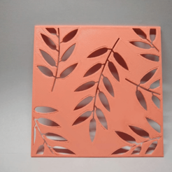 Relieve Hojas.png Download STL file Relief Cold Porcelain Leaves • Template to 3D print, wg3deng