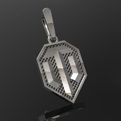 fichier stl Pendentif World of Tanks modèle d'impression 3D, Alastor
