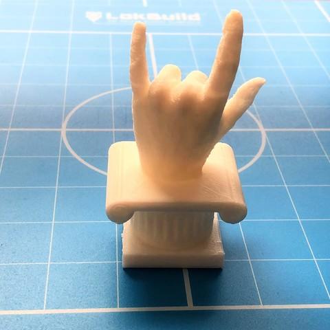 IMG_0860.JPG Download STL file I Love Hand  • Template to 3D print, brankomiokovic67
