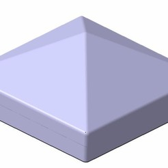 Free 3D model Post cap 12 cm x 12 cm, stefcamera