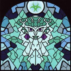 Princesse_Ruto_(The_Wind_Waker) - Copie.png Télécharger fichier STL gratuit Lithophane Vitrail Zelda Ruto stained glass • Modèle à imprimer en 3D, RustyVince