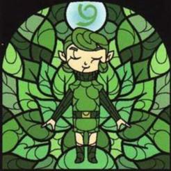 Saria_(The_Wind_Waker) - Copie.png Télécharger fichier STL gratuit Lithophane Vitrail Zelda Saria stained glass • Plan pour imprimante 3D, RustyVince